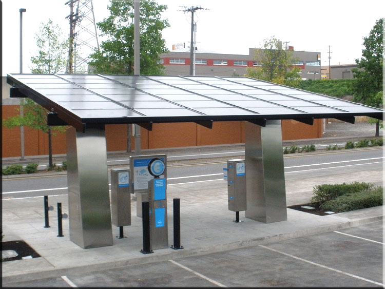 how to build a solar car charging station