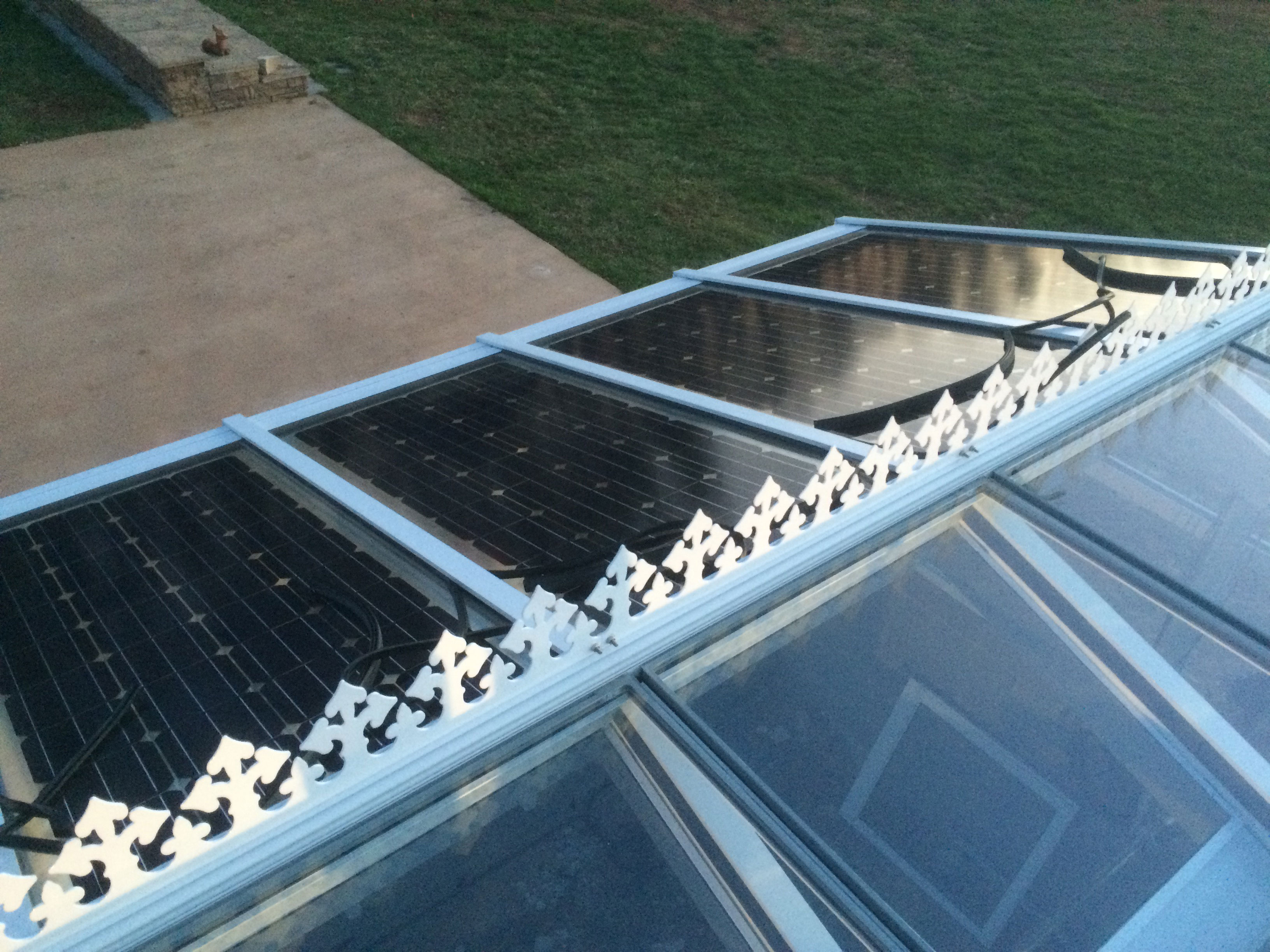 Solar Canopies Awning Systems Wiring In Cells Might Stop Reflecting Light One Up Project By Powered Sunrooms