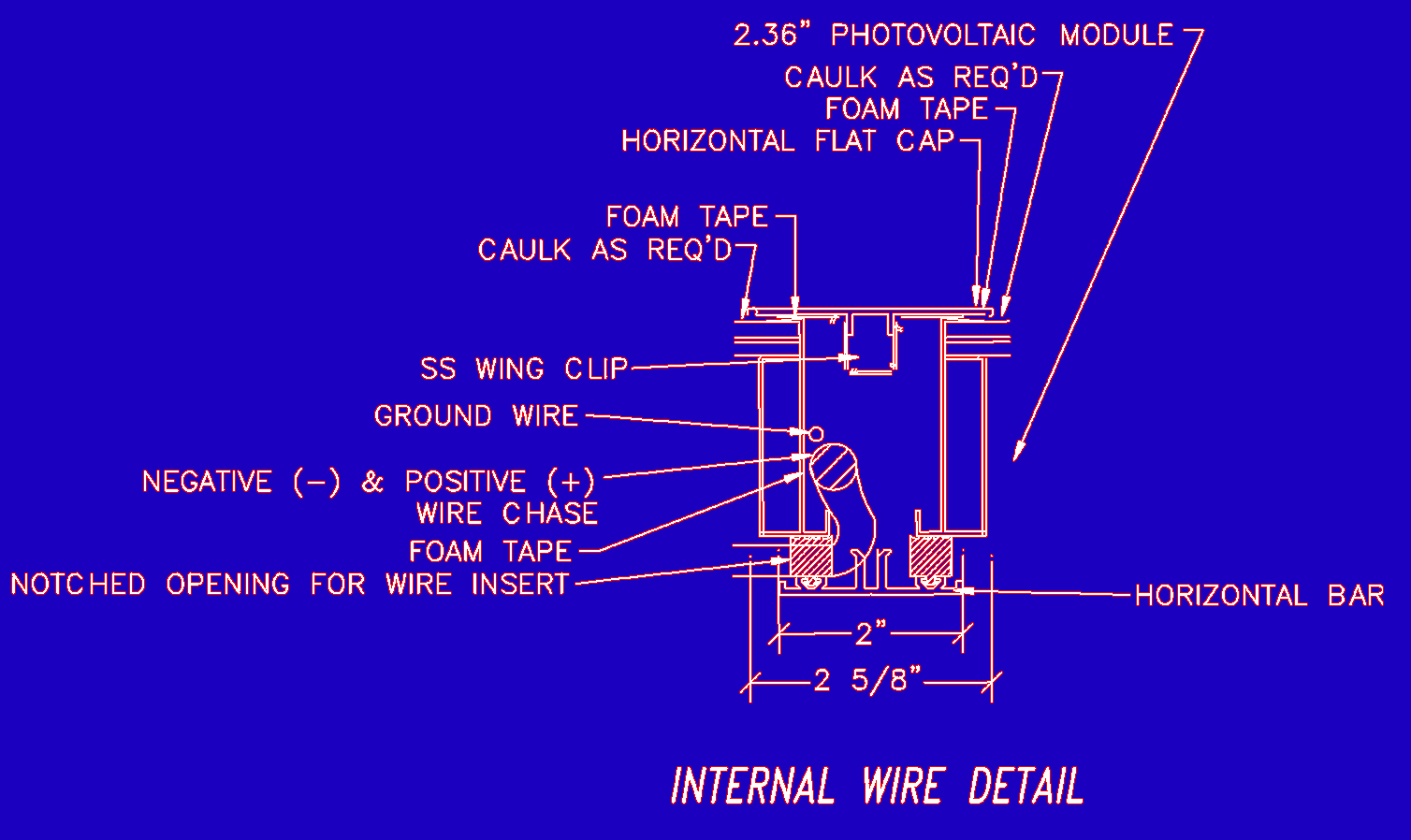 Internal Wire Chase Water Proofing Re Q Wiring Diagram All Of Florians Systems Are Designed To Allow The Pv Panel Wires Run Throughout An Grid Which Not Only Creates A Clean Look On Outside